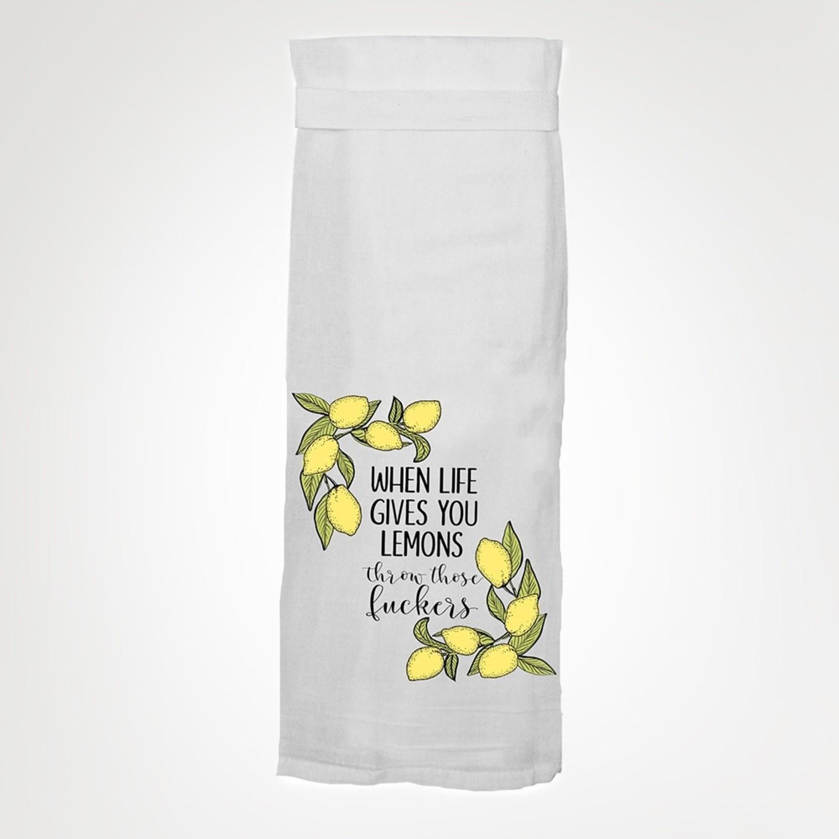 Dish Towel - When Life Gives Lemons, Throw Those Fuckers
