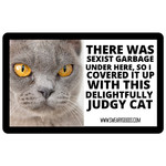 Bad Annie's Sticker - There Was Sexist Garbage Under Here, So I Covered It Up With This Delightfully Judgy Cat