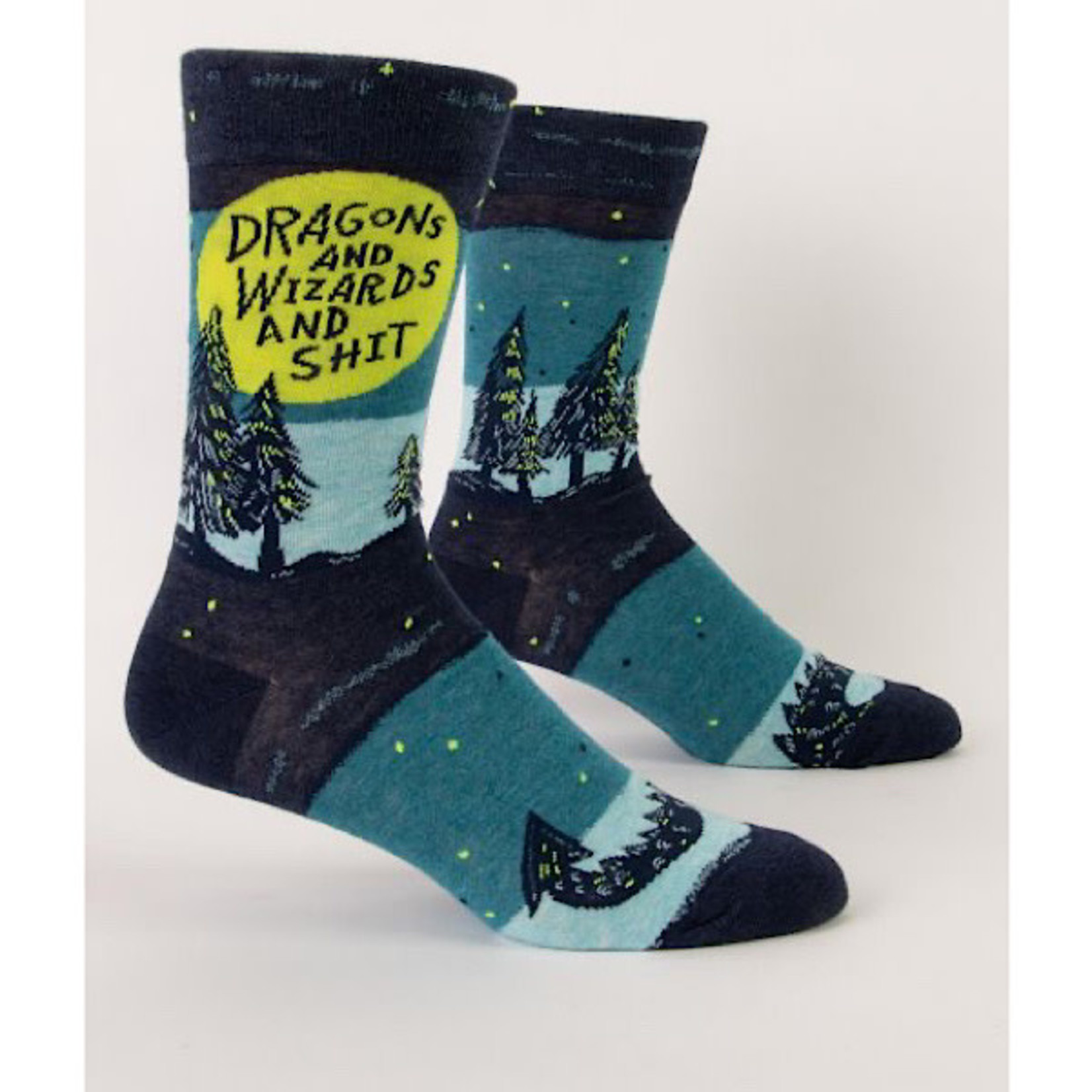 Socks (Mens) - Dragons And Wizards And Shit