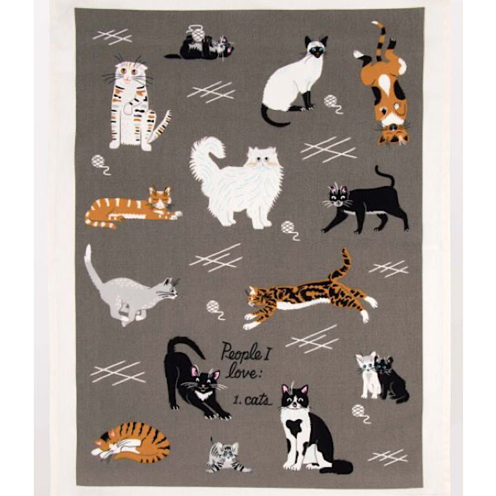 Dish Towel - People I Love Cats