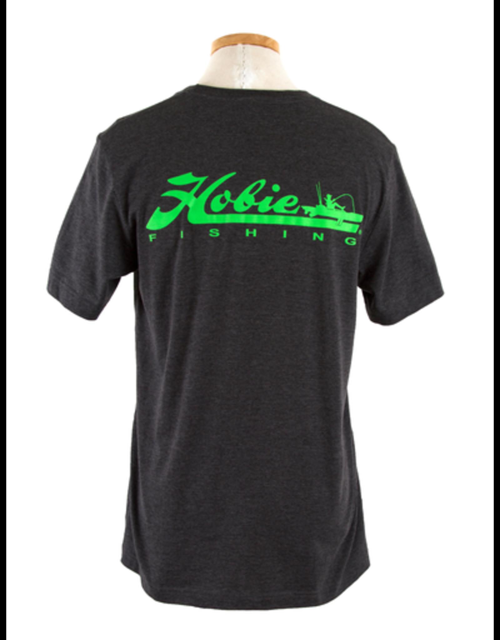 Hobie Hobie Charcoal T-Shirt, Short Sleeve, Hobie Fishing Logo in Lime