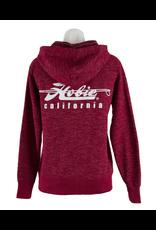 Hobie Hobie Burgundy Pull-over Hoodie, Baja Stripe, Unisex, Hobie Script Logo