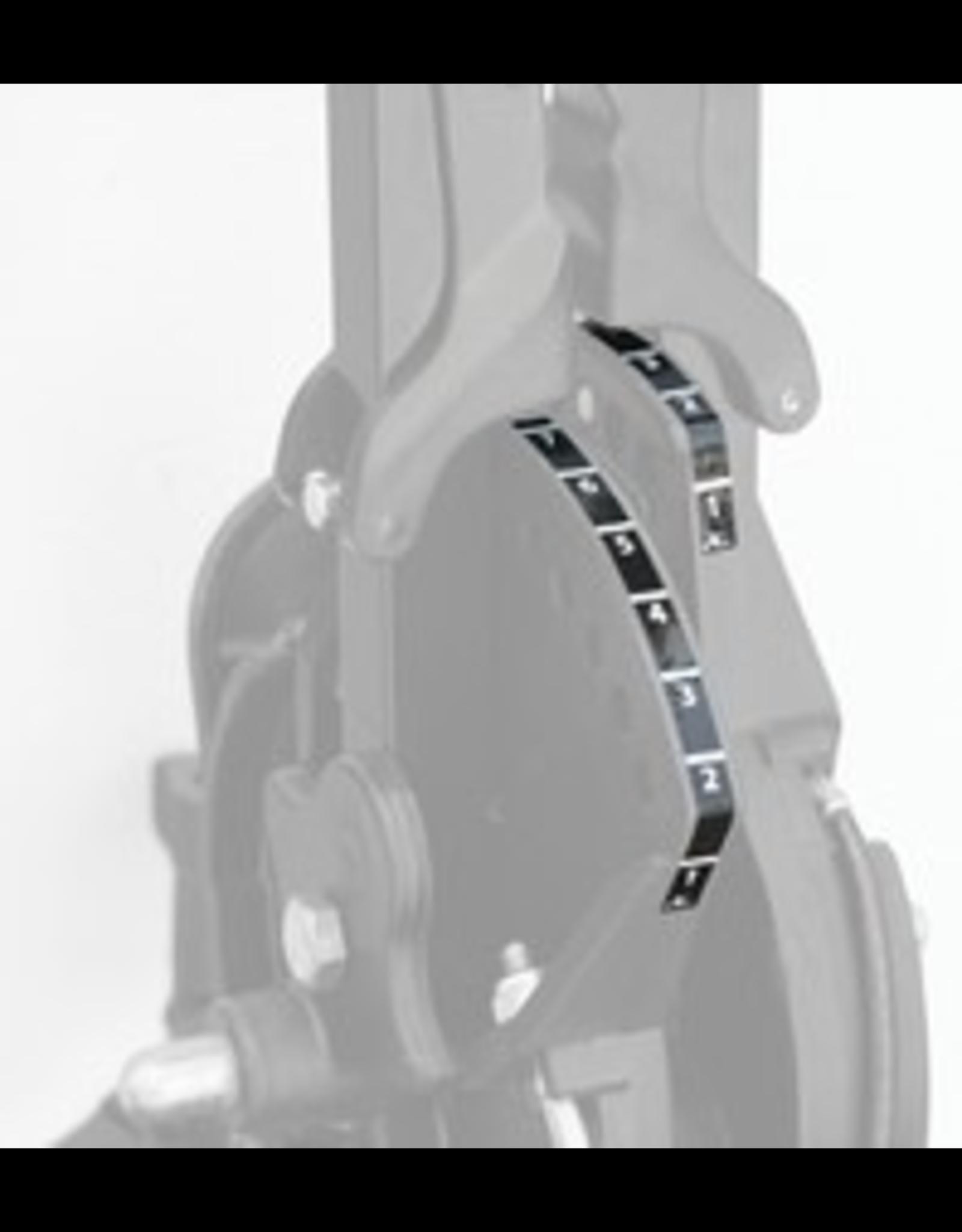 Hobie Hobie Pedal Adjustment Decal, X-39