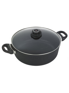 "Swiss Diamond XD Braiser with Lid - 11"" (28 cm), 5.3 QT (5 L)"