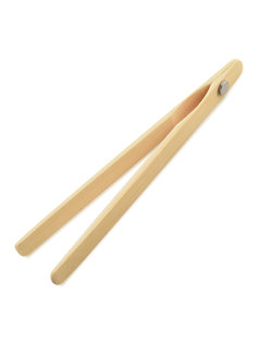 Norpro Bamboo Toaster Tongs W/Magnet