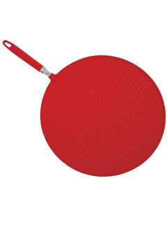 Norpro Grip-Ez Silicone Splatter Screen Red