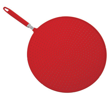 Norpro Grip-Ez Silicone Splatter Screen Red