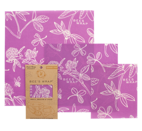 Bee's Wrap 3 Pack Assorted Sizes Clover Print
