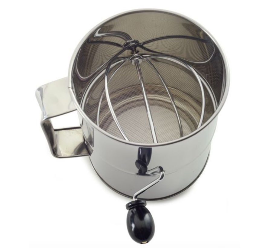 8 Cup Flour Sifter - Stainless Steel