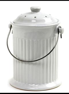 Norpro Ceramic Compost Crock / White