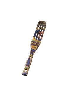 """Island Bamboo Rainbow Pakka Slotted Spurtle 13"""""""