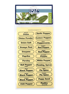 RSVP Endurance® Clear Spice Labels (set of 84)