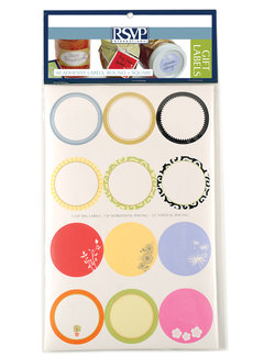 RSVP Endurance® Gift Labels, 48 Adhesive, Round & Square Assortment