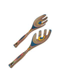 """Island Bamboo Rainbow Pakka Salad Leaf 9"""""""
