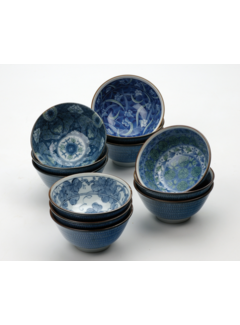 RSVP Endurance® Decorative Japanese Porcelain Bowls, 14 oz.