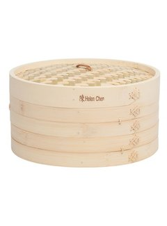 "Helen's Asian Kitchen Bamboo Steamer 12"" 3 Pc. Set"