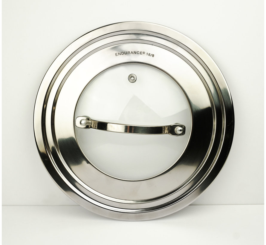 """Universal Lid – 9"""" with Glass Insert"""