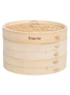 "Helen's Asian Kitchen Bamboo Steamer 10"" 3 Pc. Set"