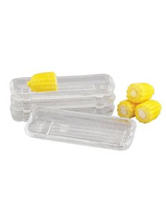 Harold Import Company Inc. Glass Corn Dish (Set of 4)