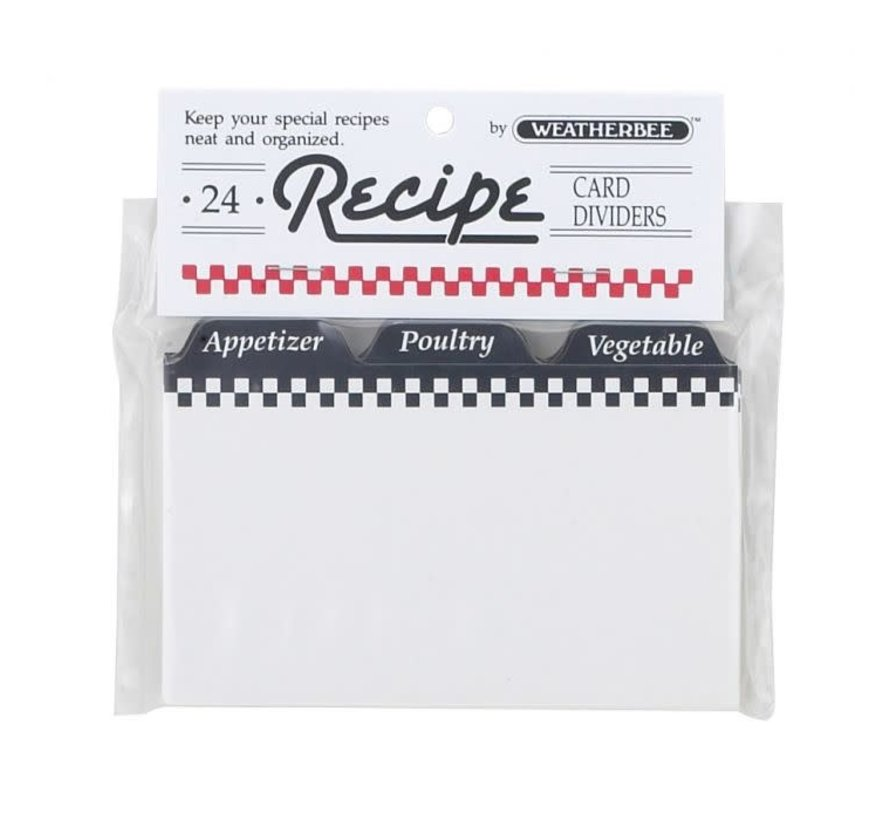 """HIC Recipe Card Dividers 3"""" x 5"""" - Spoons N Spice"""
