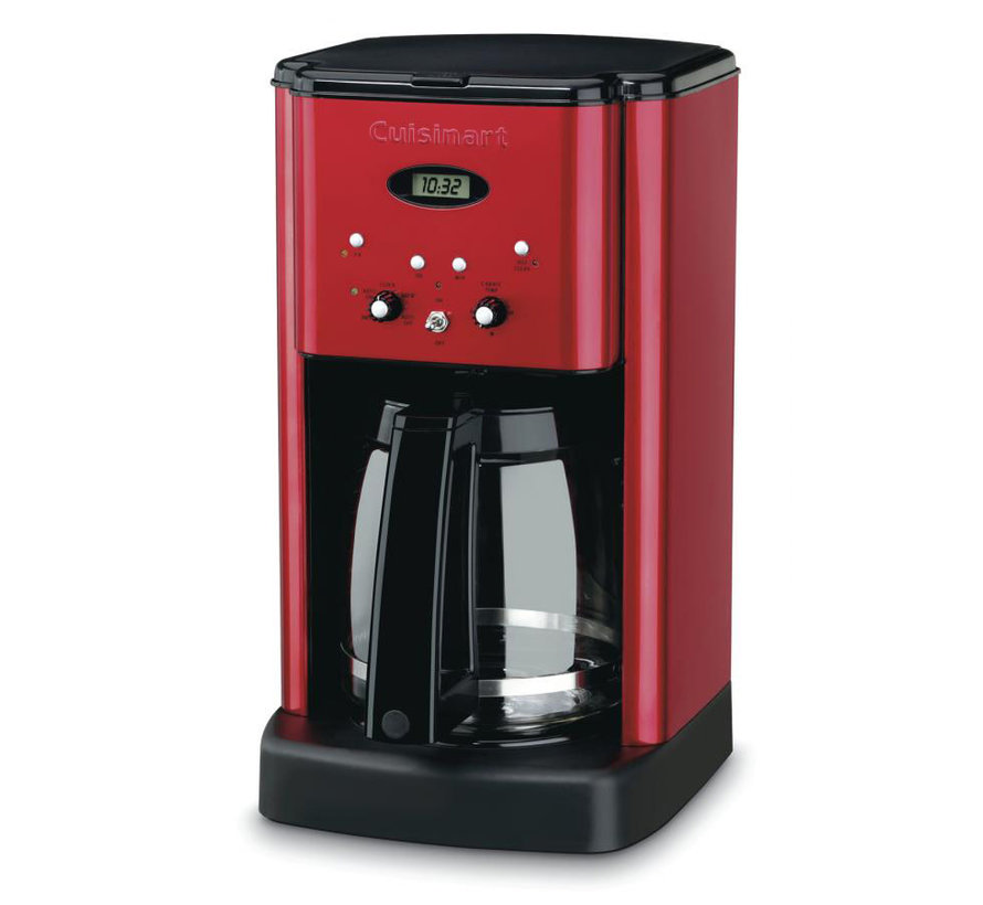 Brew Central 12-Cup Programmable Coffeemaker (Metallic Red)
