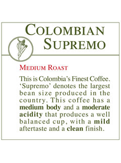 Fresh Roasted Coffee - Colombian Supremo