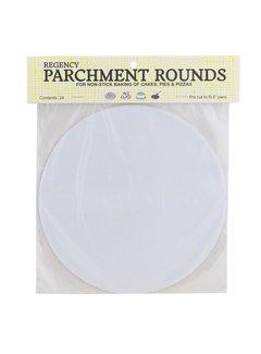 """Regency Parchment Rnds Precut 8"""" 24/Pk"""