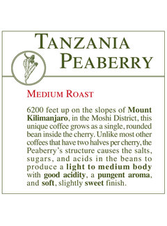 Fresh Roasted Coffee - Tanzania Peaberry