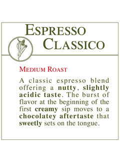 Fresh Roasted Coffee - Espresso Classico