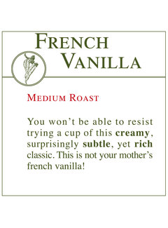 Fresh Roasted Coffee - French Vanilla
