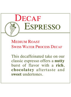 Fresh Roasted Coffee - DECAF Espresso
