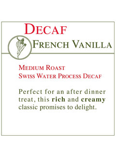 Fresh Roasted Coffee - DECAF French Vanilla