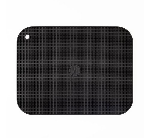 """ThermoWorks 9""""x12"""" Silicone Hot Pad/Trivet - Black"""