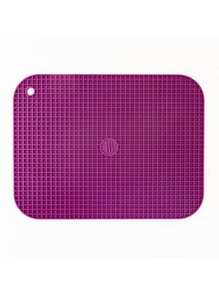 "ThermoWorks 9""x12"" Silicone Hot Pad/Trivet - Purple"