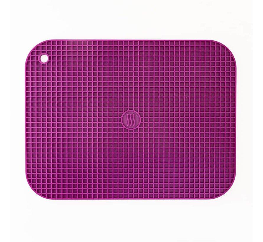 "9""x12"" Silicone Hot Pad/Trivet - Purple"