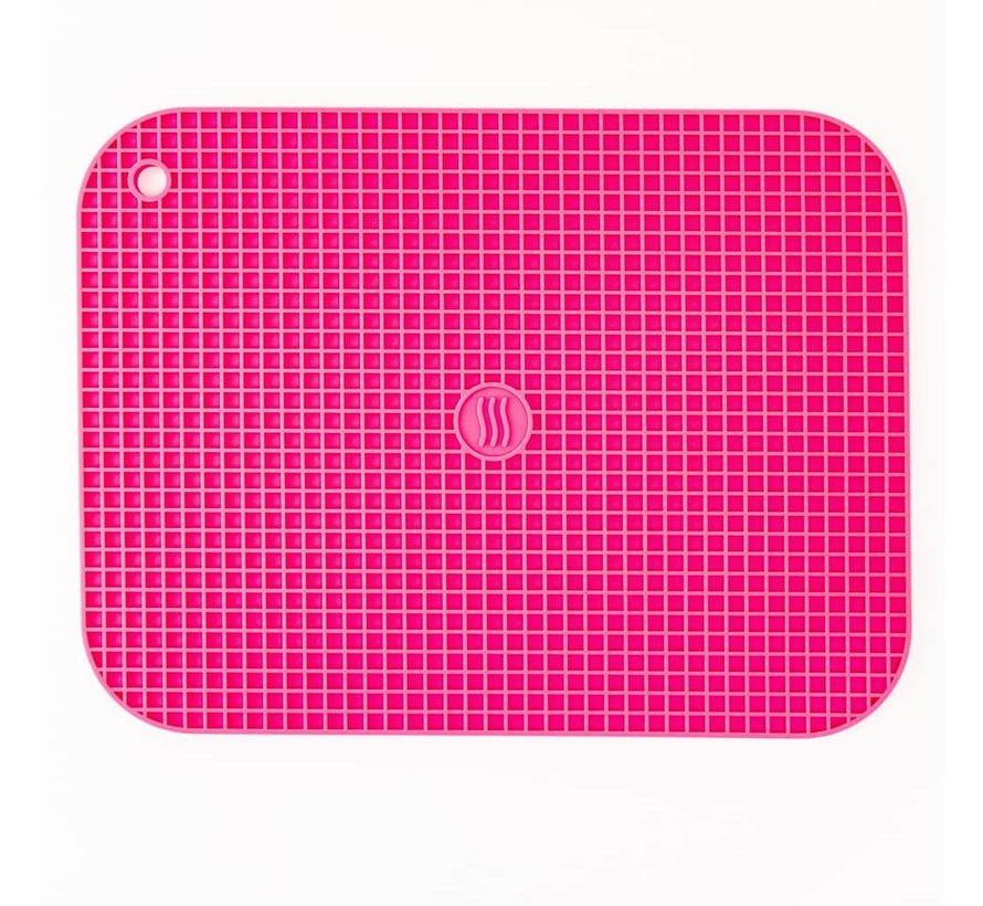 "9""x12"" Silicone Hot Pad/Trivet - Pink"