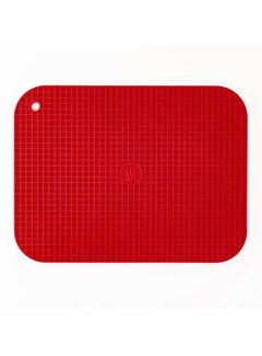 "ThermoWorks 9""x12"" Silicone Hot Pad/Trivet - Red"