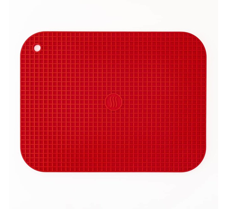 """9""""x12"""" Silicone Hot Pad/Trivet - Red"""