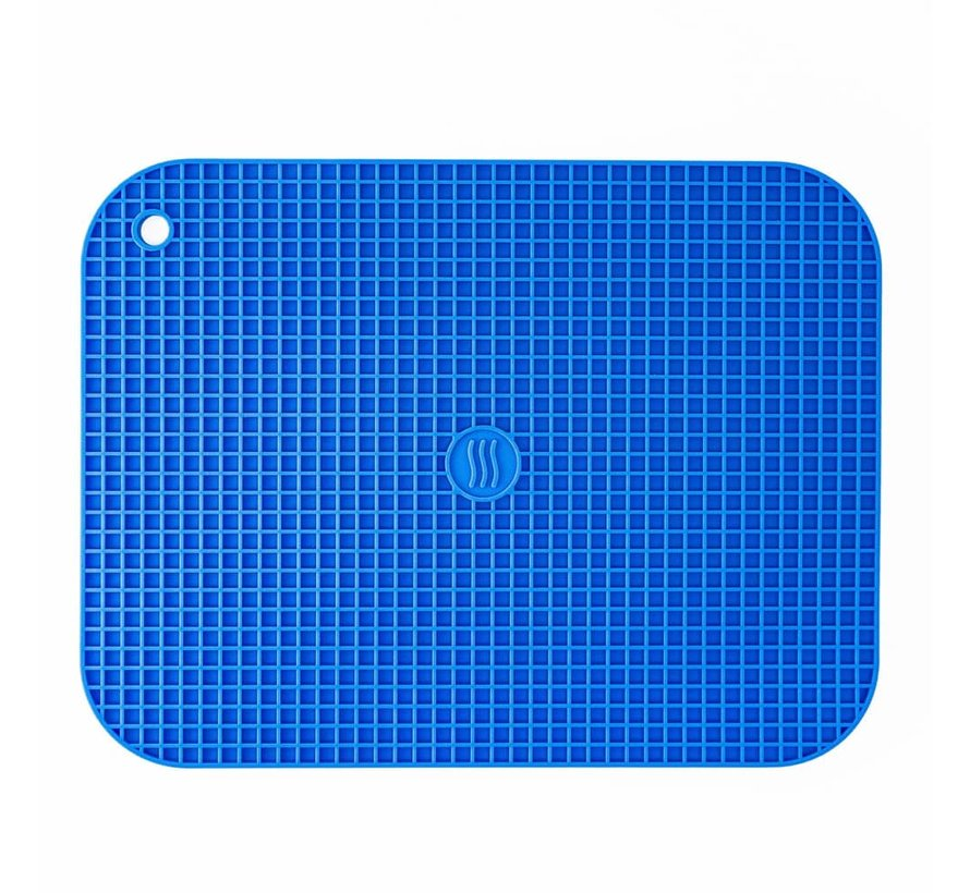 "9""x12"" Silicone Hot Pad/Trivet - Blue"