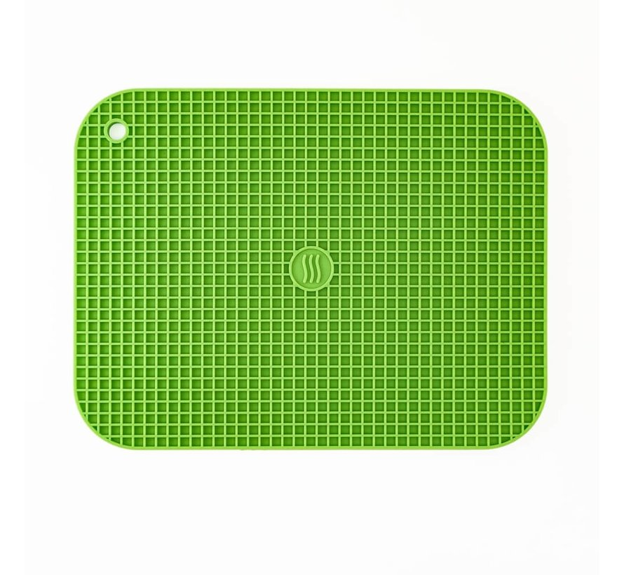 """9""""x12"""" Silicone Hot Pad/Trivet - Green"""