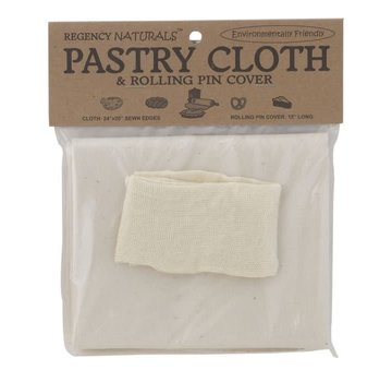 "Regency Natural Pastry Cloth  & Pin Cover 24"" X 20"""