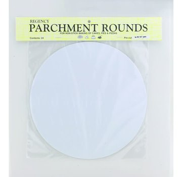"Regency Parchment Rounds Precut 10"" pack of 24"
