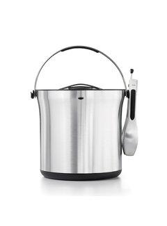 OXO STEEL Ice Bucket & Tong Set