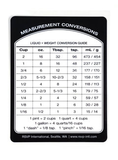RSVP Endurance® Measurement Conversion Removeable Reference Labels