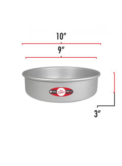 "Fat Daddio's Removable Bottom Cake Pan  9""X3"""