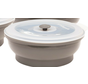 6 Cup Silicone Round - Grey