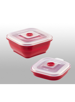 Collapse It 4 Cup Silicone Rectangle - Red