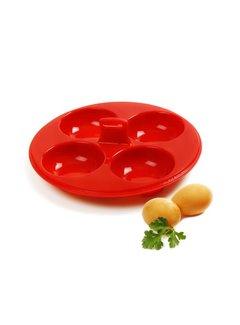 Norpro 4 Egg Poacher, Silicone