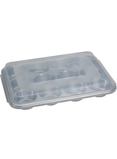 Nordic Ware Muffin Pan W/Lid - 12 Cup - Naturals