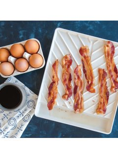 Nordic Ware Microware Large Slanted Bacon Tray